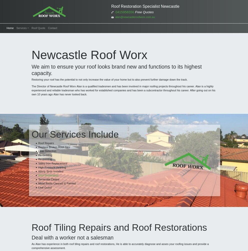 Newcastle Roof Worx SEO optimisation